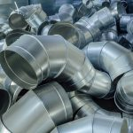 Steel pipes, parts for construction of ducts of industrial air condition system